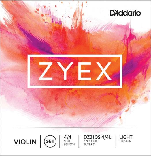 D´ADDARIO Zyex Satz Violinsaiten m. D-Silber, light