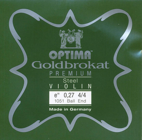 Optima Goldbrokat Premium Violin E-Saite Kugel 27