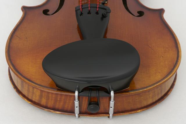 Flesch rund, Kinnhalter Ebenholz für 1/2 - 1/4 Violine