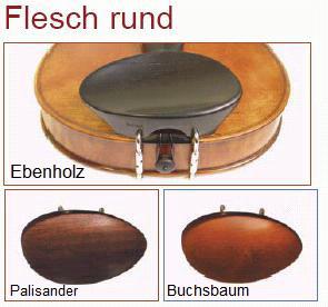 Flesch rund, Kinnhalter Buchsbaum