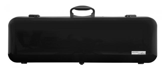 Gewa Violinkoffer Air 2.1, schwarz hochglanz